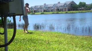 Crazy Kid Swims in Alligator Infested Lake! (Day 3) - 4/3/11