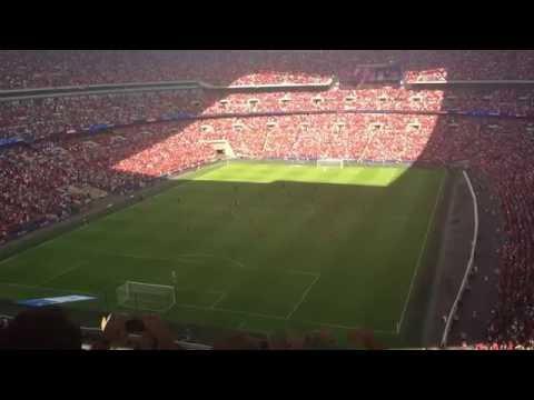 90,000 Fans Singing You'll Never Walk Alone | Liverpool 4 vs Barcelona 0 | Wembley Stadium |