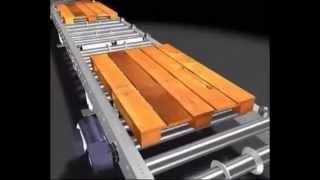 видео: Роликовые конвейеры для паллет