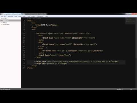 jQuery Tutorials: Submitting a Form with AJAX