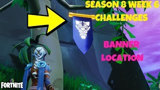 Fortnite - SEASON 8 SEMAINE 6 DISCOVERY CHALLENGE SECRET BANNER LOCATION IN LOADING SCREEN #6