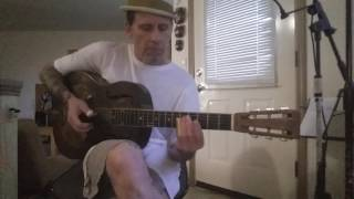 slide guitar blues in open c tuning - 1932 national resonator