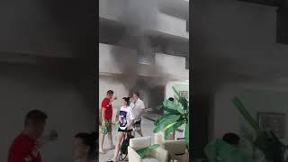 Пожар в отеле Aydinbey Gold Dreams Турция