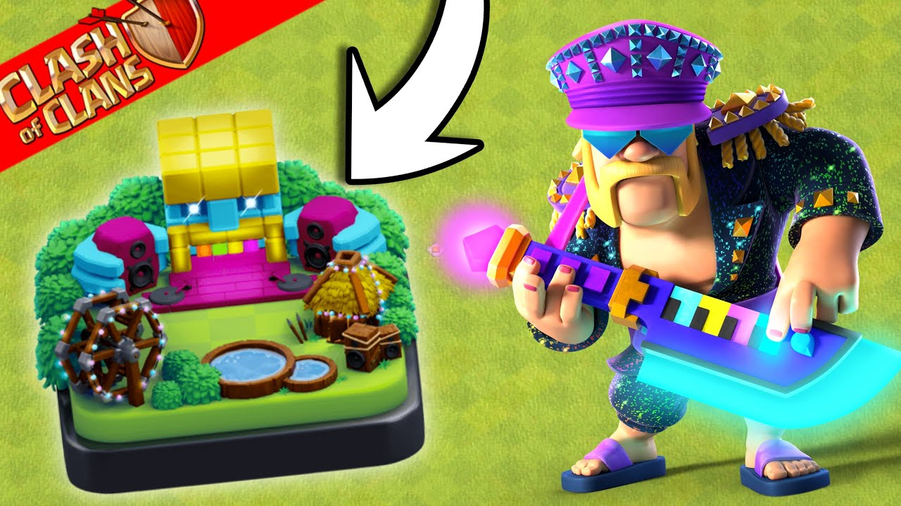 New Scenery , New King Skin ! All New Items. Clash of Clans-COC