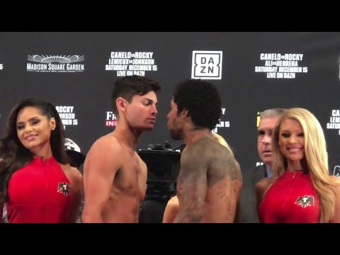 HEATED FACE OFF!! RYAN GARCIA GETS PUSHED BY BRAULIO RODRIGUEZ DURING WEIGH IN FACE OFF!