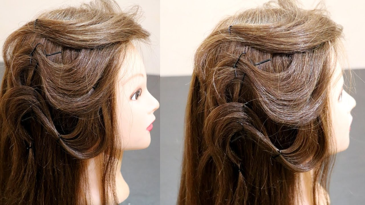 simple hairstyle for girls | casual hairstyles for hangout | hairstyle in 2 minutes | integrators