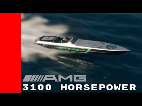 3100HP Mercedes AMG 50 Marauder Boat Racing On Miami Waters