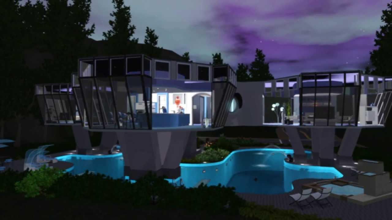 The Sims 3 House Style Hi Tech Minimalist Youtube