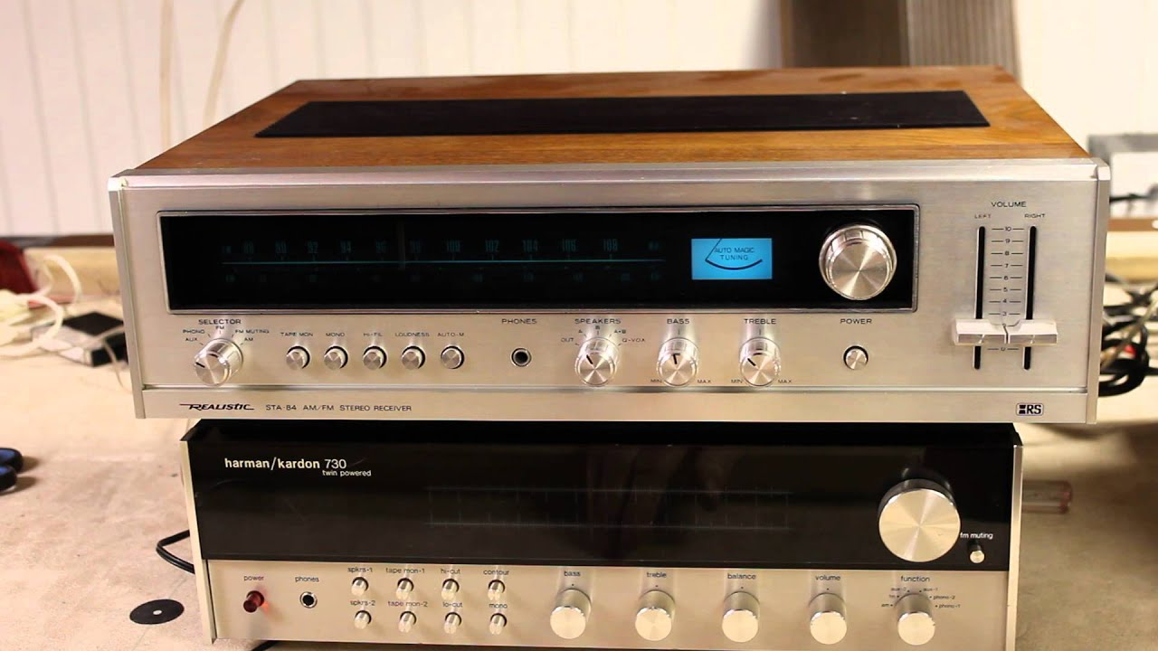 vintage receiver realistic sta 84 youtube rh youtube com