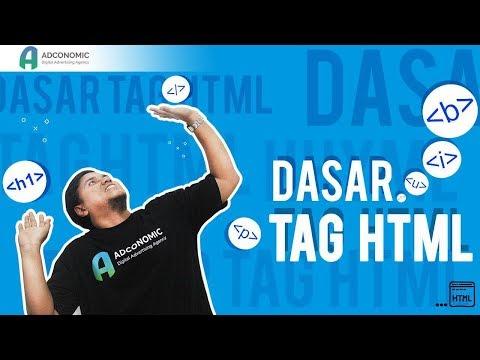 Dasar Tag HTML Untuk Pemula