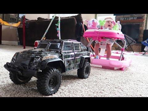 RC Truck VS Baby!!