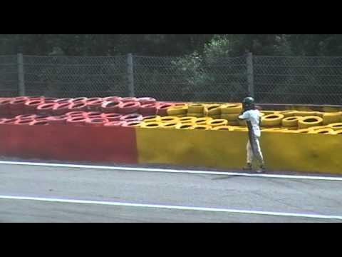 Heavy FIA Formula 2 Crash Spa