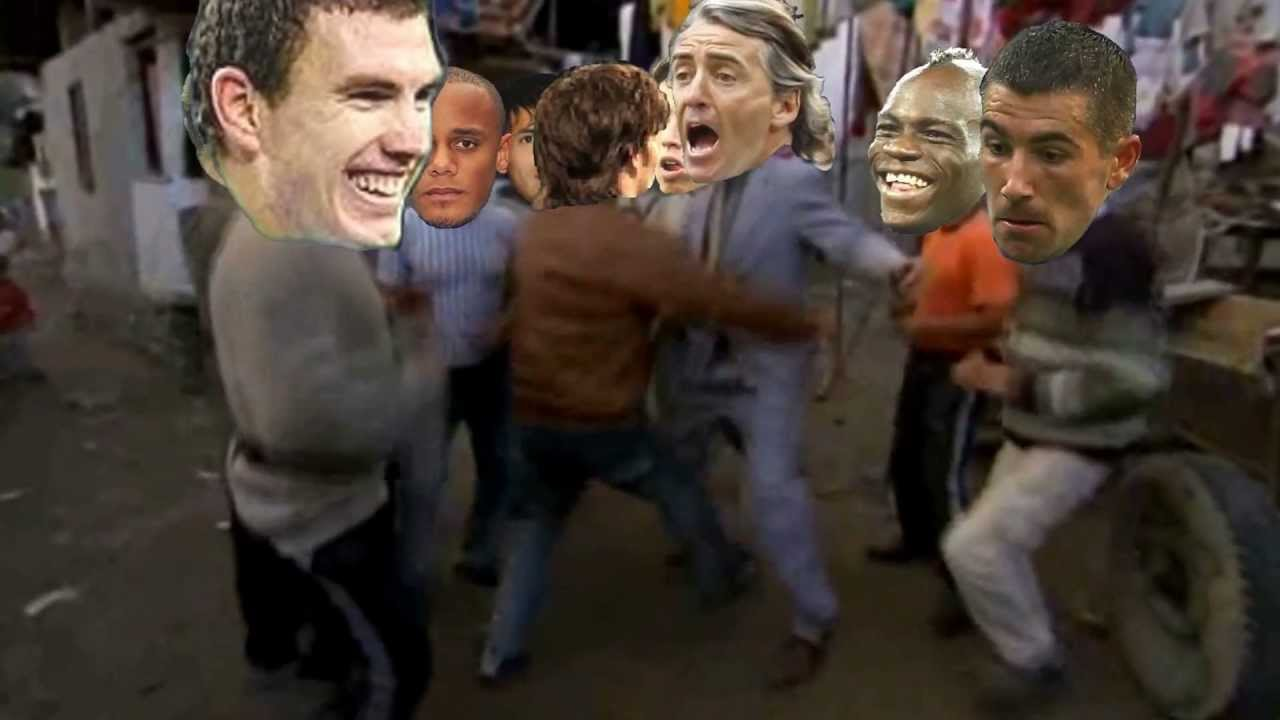 Man City Funny: Manchester City Players Funny Borat Dance
