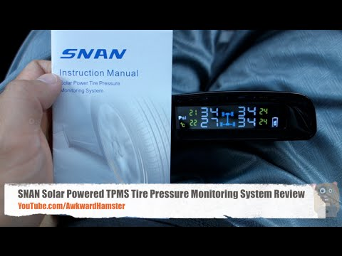 SNAN Solar Powered TPMS Tire Pressure Monitoring System Review