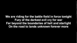 DragonForce - Fury Of The Storm | Lyrics on screen | HD