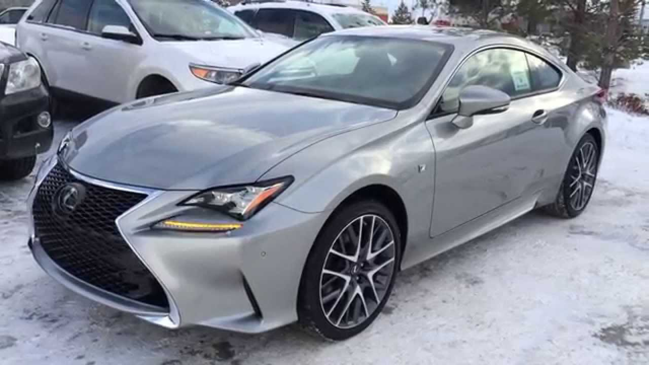 Great New Atomic Silver 2015 Lexus RC 350 2dr Cpe AWD F Sport Series 2 Review    North Edmonton   YouTube