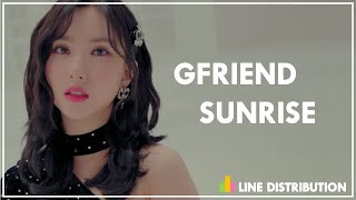 Gfriend - sunrise (line distribution)