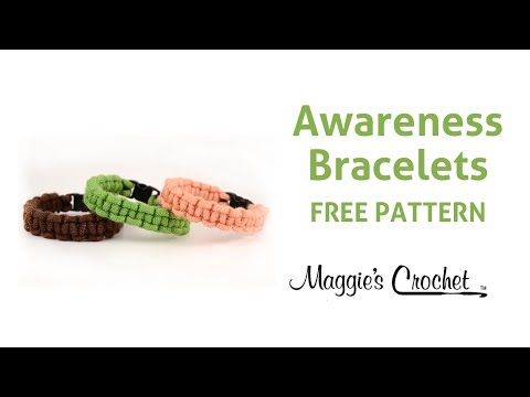 Macrame Bracelets Crochet Free Pattern Right Handed