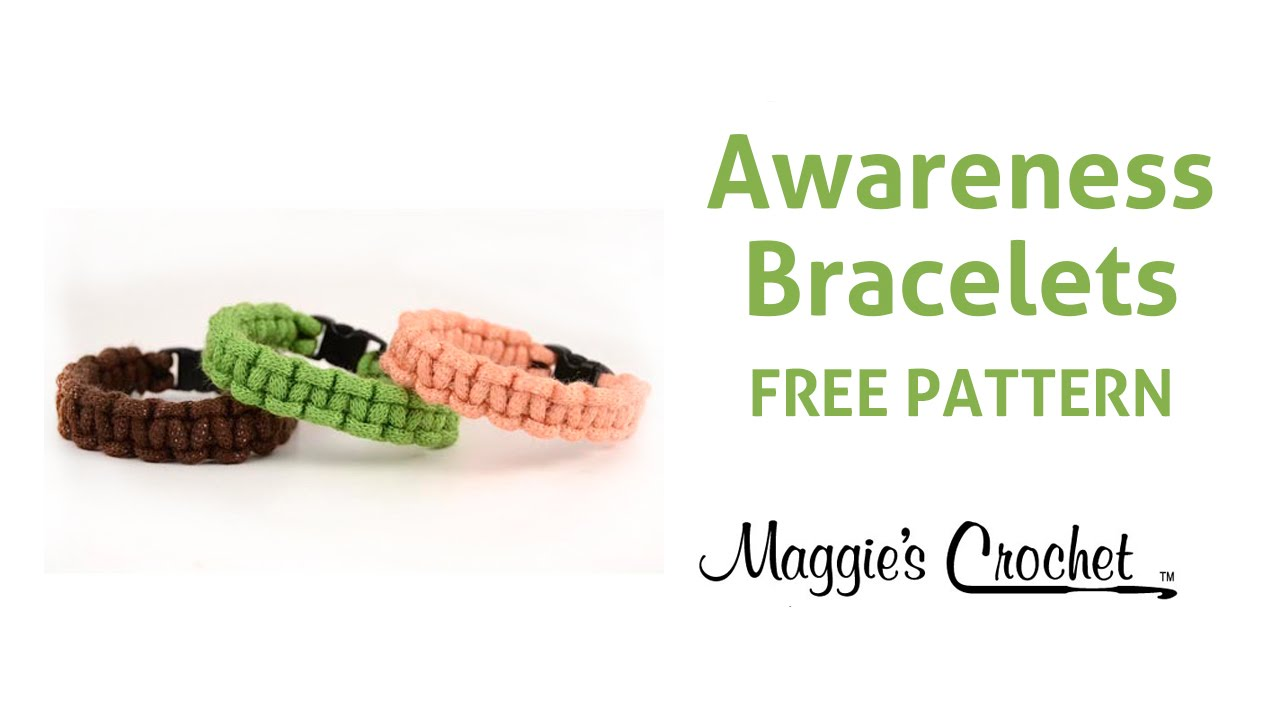 Macrame Bracelets Crochet Free Pattern Right Handed Youtube
