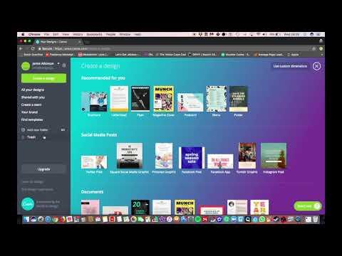 Design a Pinterest Pin - Setup Canva