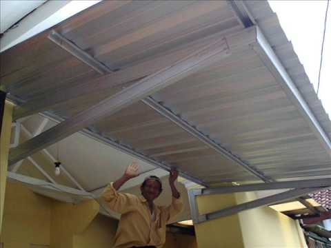 kanopi baja ringan kebumen harga rangka atap taso - youtube