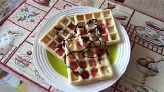 Прибор для выпечки от Polaris // рецепт // вкусные вафли