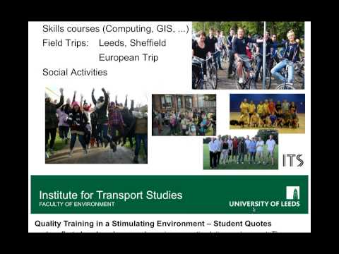 ITS webinar: MSc Transport Planning & MSc Sustainability (Transport)