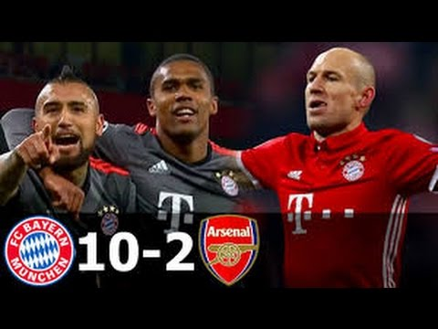 Bayern Munich vs Arsenal 10-2 - All goals In Champion League