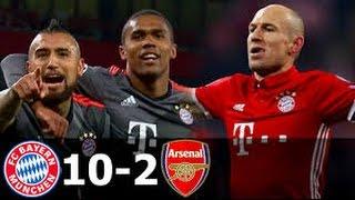 Bayern Munich vs Arsenal 10-2 - All goals In Champion League  HD
