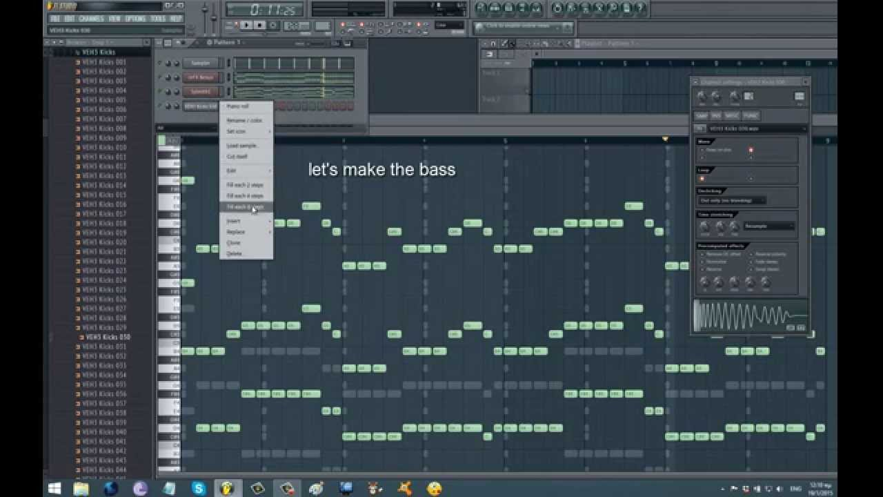 FL Studio, 2015 - How to make simple EDM chords sound pro and how to make a fat EDM bass - YouTube
