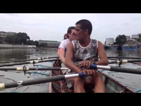 Rowing on the Pasig River