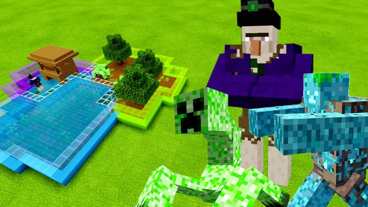 MCPE: How To Make a MUTANT DROWNED, MUTANT CREEPER & MUTANT WITCH FARM (Minecraft PE)