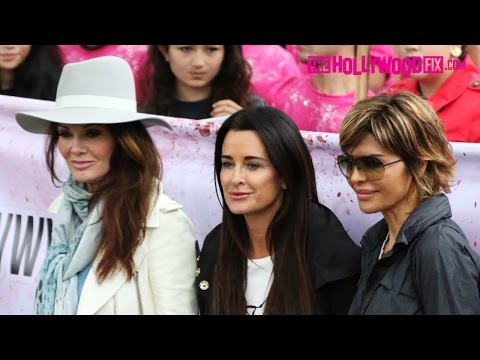 Lisa Vanderpump, Kyle Richards & Lisa Rinna Protest Yulin Dog Meat Festival 10.4.15