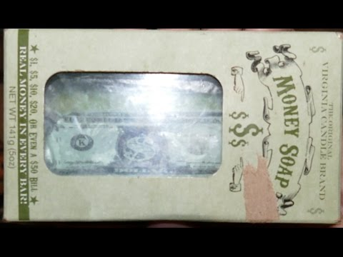 Virginia Candle Brand Money Soap Unboxing With Real Money ...