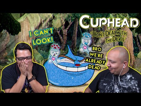CupHead Boss Battles w/Noble Addiction Co-Op Gameplay [Ruse of An Ooze & Floral Fury
