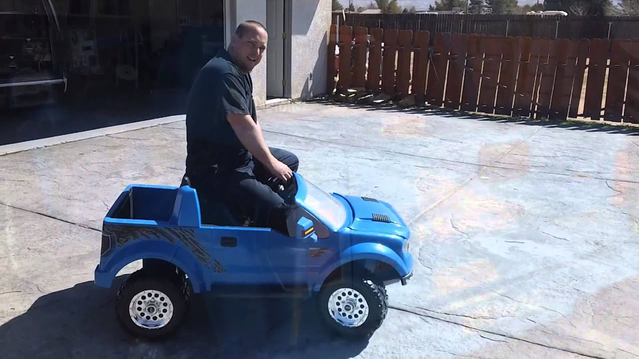 Audiotistics Upgrade Ford Raptor Power Wheels Youtube