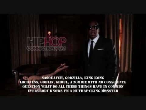 Kanye West- Monster ft. Nicki Minaji, Jay-z, Rick Ross, & Bon Iver
