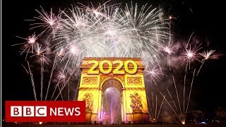 Bangs and flashes set off new decade BBC News
