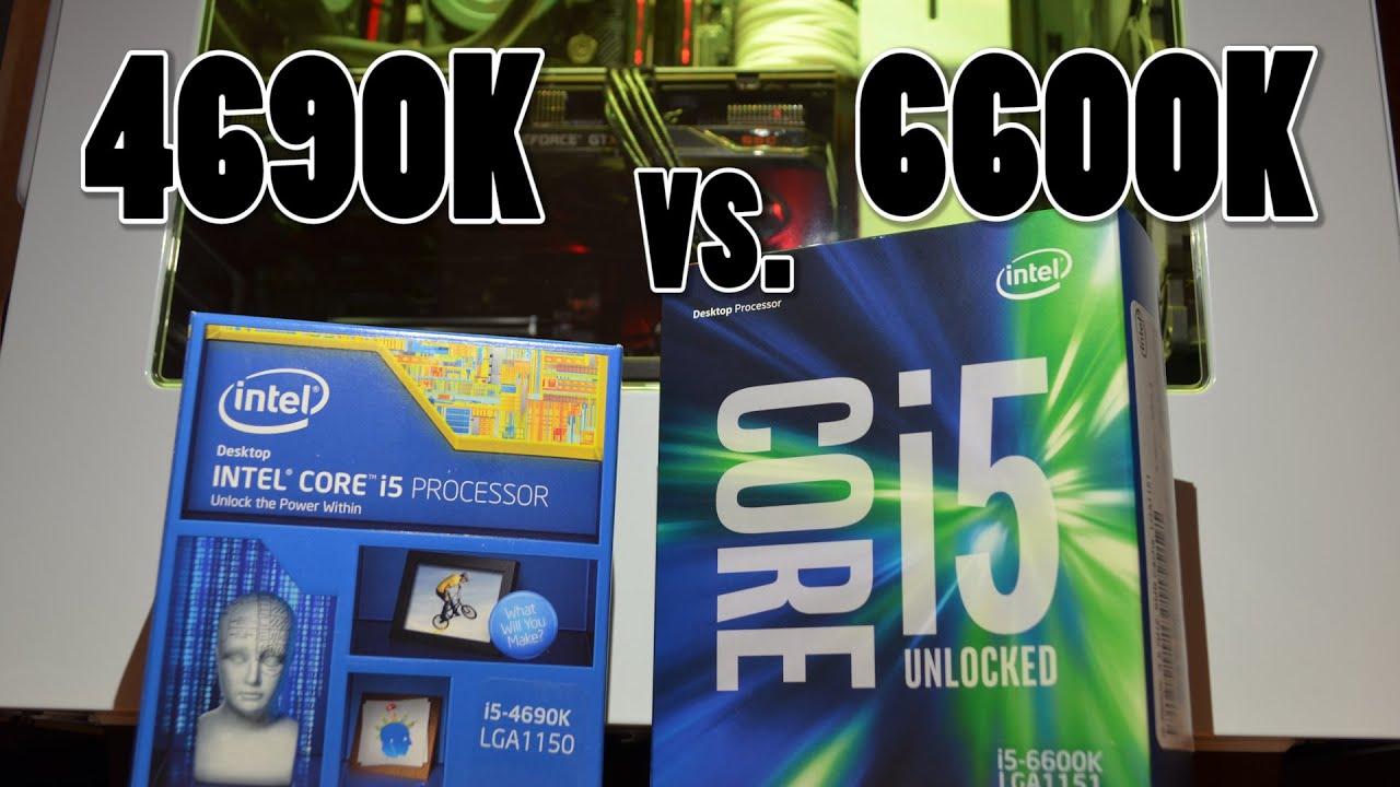 Skylake vs  Haswell: i5 6600K vs  i5 4690K