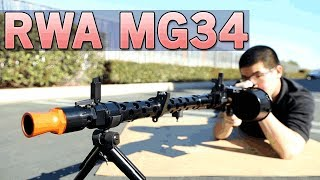 RWA MG34 - Amazing Replica the WWII Machine Gun - Get for Collectors | Airsoft GI