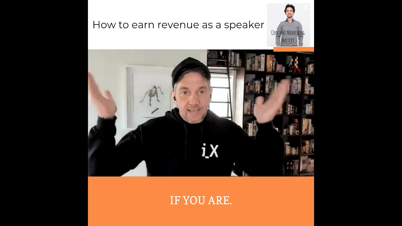 How speakers can earn revenue online!