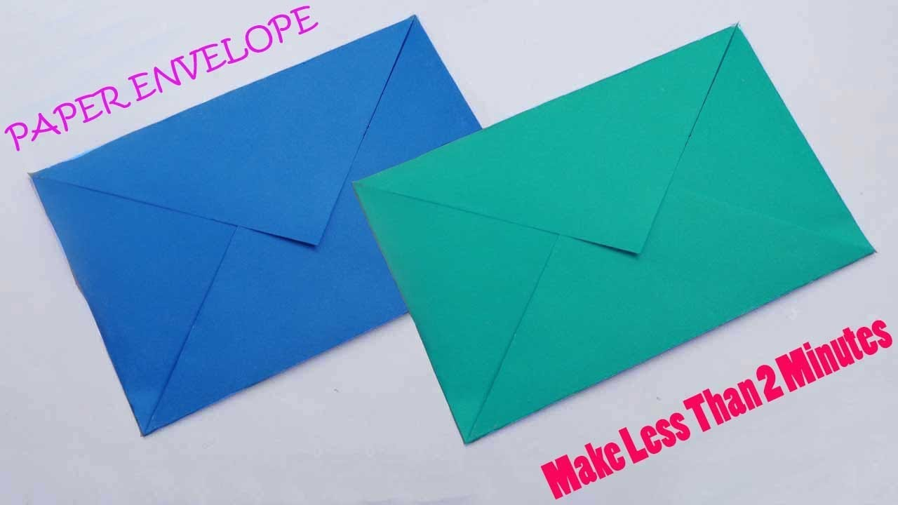 Paper Envelope Making Without Glue Or Tape Easy Origami Tutorial Make Your Own Envelopes