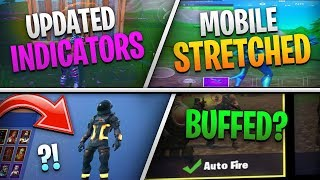 Fortnite Mobile News | Stretched Res, Audio Indicators, AutoFire BUFF, Skin Updates, AND MORE!