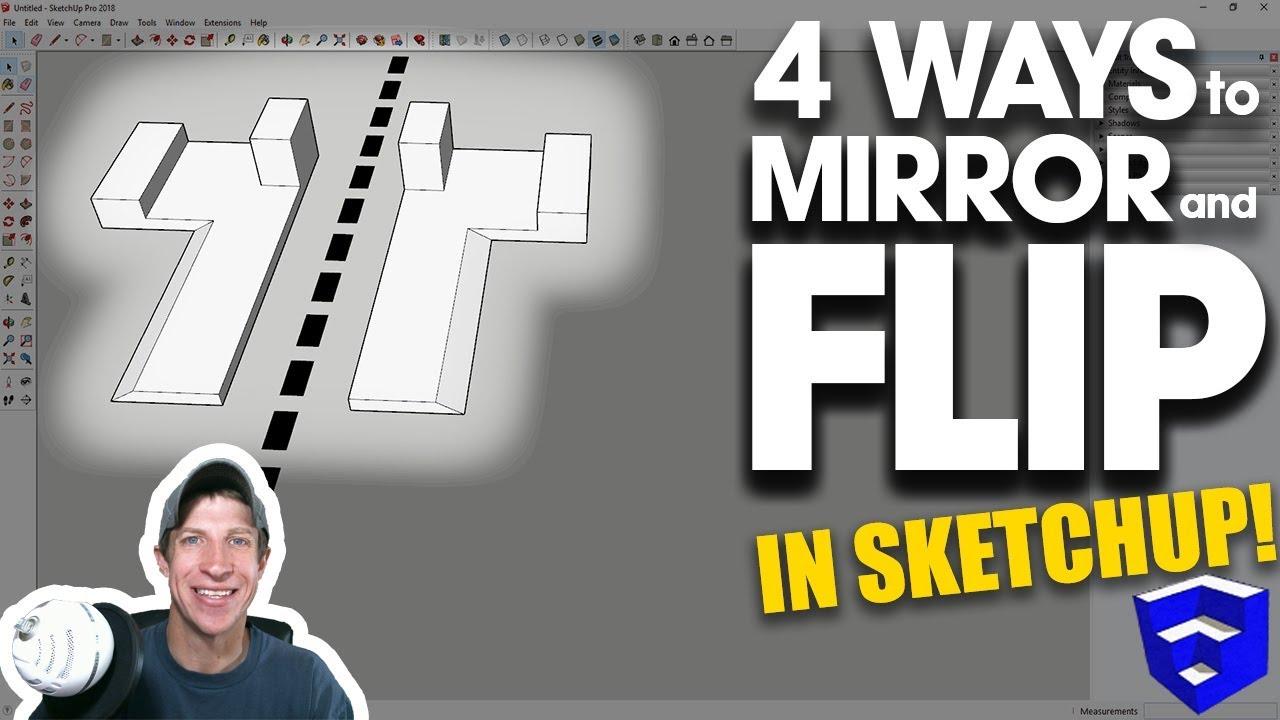 4 WAYS TO MIRROR AND FLIP OBJECTS in SketchUp - The SketchUp