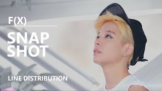 F(X) (에프엑스) - SNAPSHOT [Line Distribution]