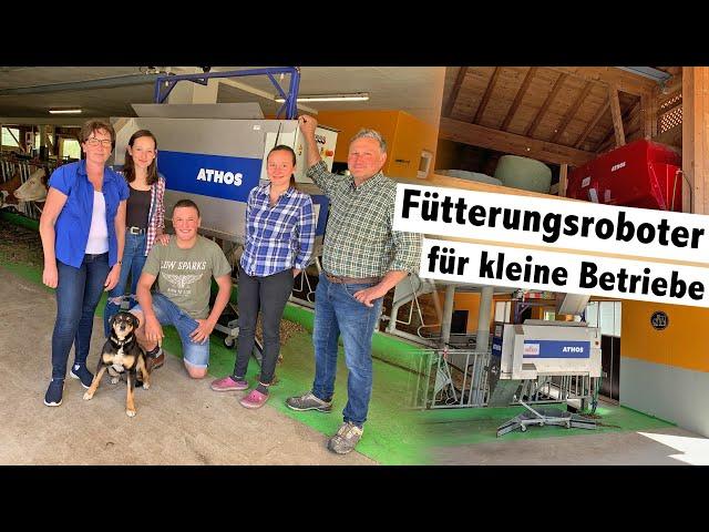 Hetwin Athos am Vorderbichlhof der Familie Siller | Fütterungsroboter für kleine Betriebe