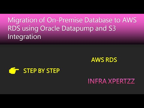 Migration of On Premise Oracle database to AWS RDS using Oracle Datapump and S3 integration
