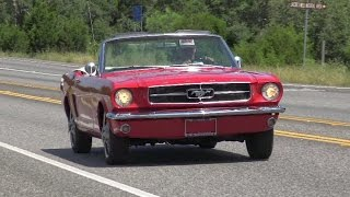 1965 Ford Mustang 289 convertible retro test drive with Samspace81