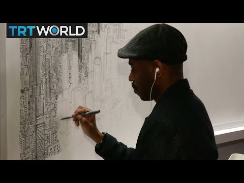 Stephen Wiltshire paints NYC skyline from memory