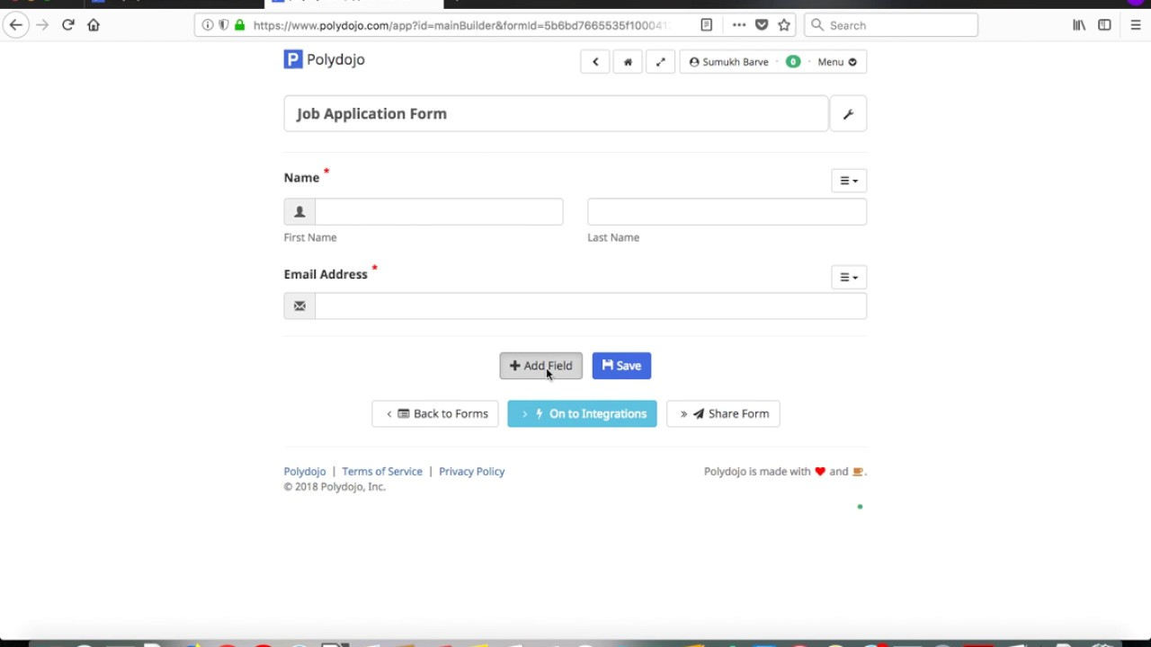 Create A Job Application Form With Polydojo Youtube